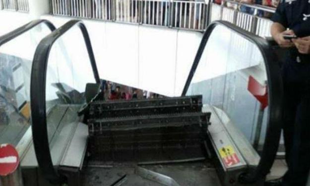 Escalator breaks apart at Malaysia airport