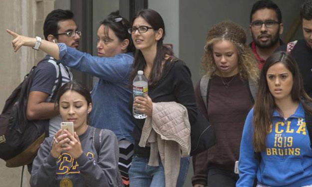 Murder-suicide kills 2 at UCLA, shuts down campus