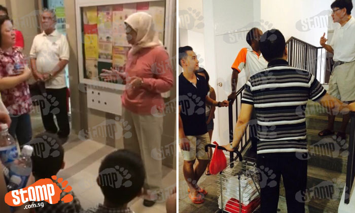 Woodlands Block 302A residents stranded for 4 hours under block after all 3 lifts break down: MP Halimah Yacob spotted at scene