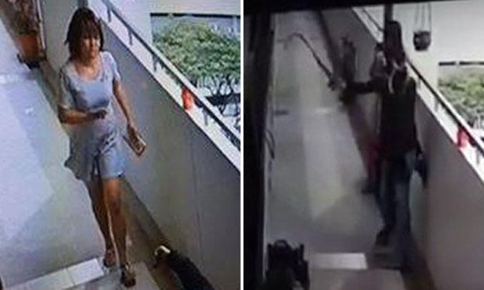 Gotcha! Girls caught locking Toa Payoh flat owner's gate and splashing paint on door