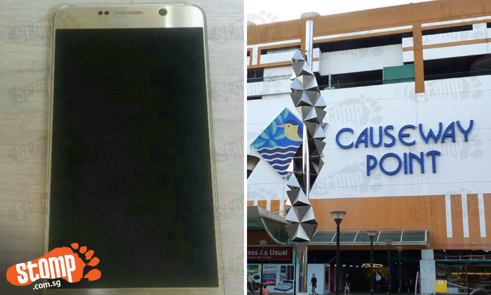 Couple offers $100 reward for Samsung Note 5 phone lost at Causeway Point: 'It contains our kids' photos'