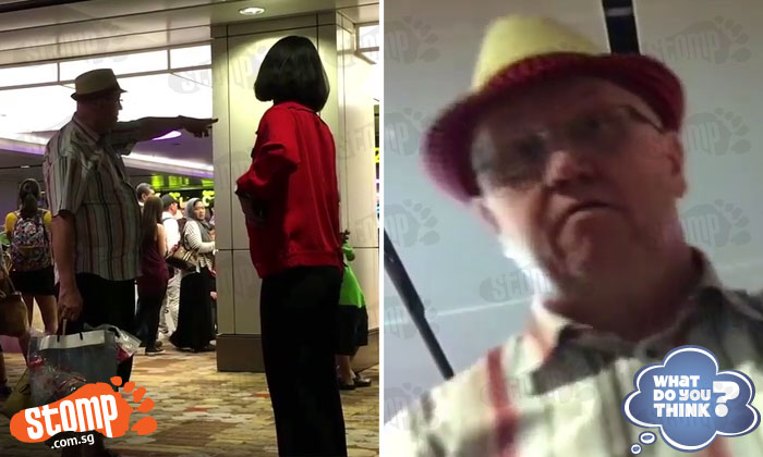 Man confronts woman for taking video of him bullying AirAsia staff at Changi Airport -- but gets owned big time