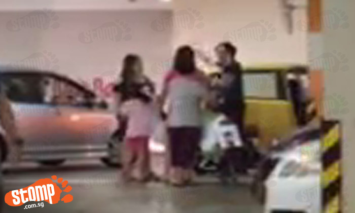 Driver warns kids not to play dangerously at Jurong Point carpark -- only to get screamed at by their mums for honking