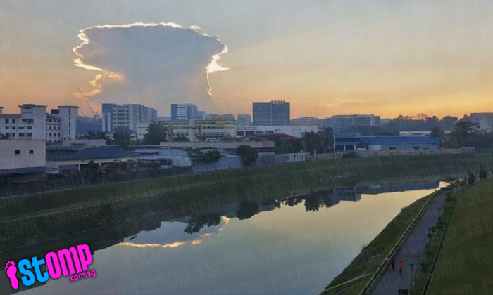 Mushroom clouds in Singapore? No, here's what they really are