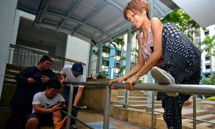 23-year-old S'porean mother is one of few women to take up parkour here