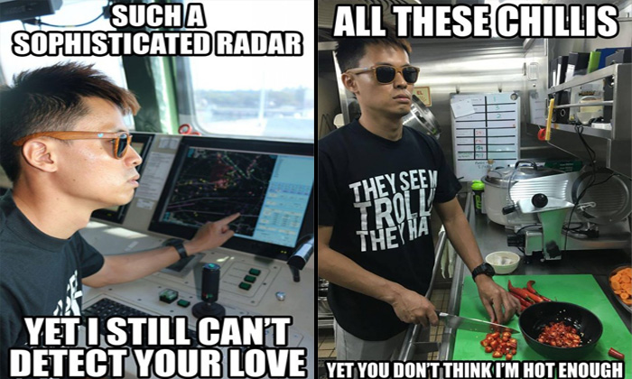 Hilarious relationship puns about guy on S'pore Navy ship go viral