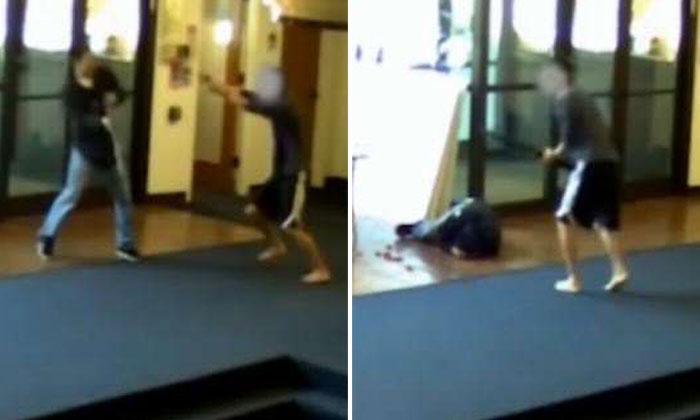 CCTV footage shows student tackling gunman who shot students in US university