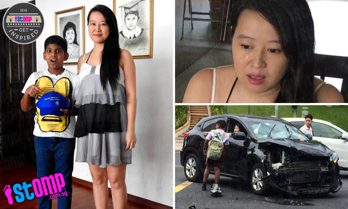 Pregnant woman injured in Yishun accident cries while thanking 12-year-old boy who helped her