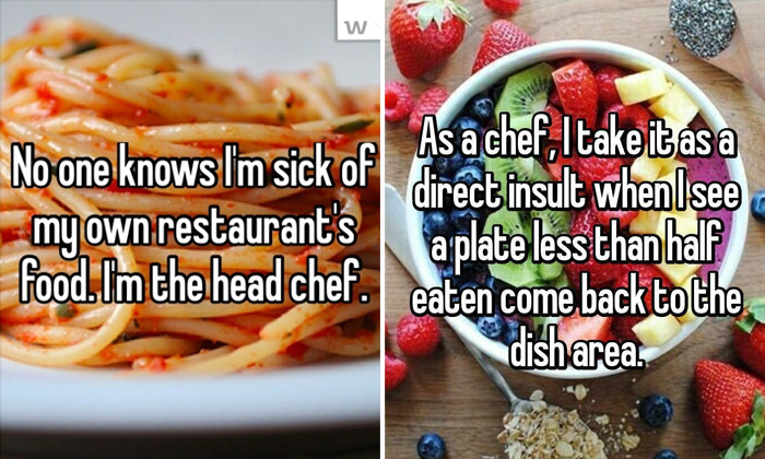 15 chefs confess the truth about their profession