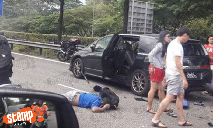 53-year-old motorcyclist dies after accident with car on BKE near Woodlands Ave 3