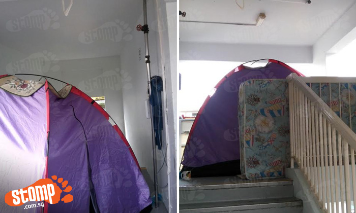 Jalan Bukit Merah residents camp outside their own house for over a week -- and even install own fan and lights