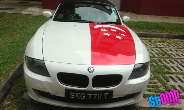 Check out this BMW driver's unique way of celebrating National Day