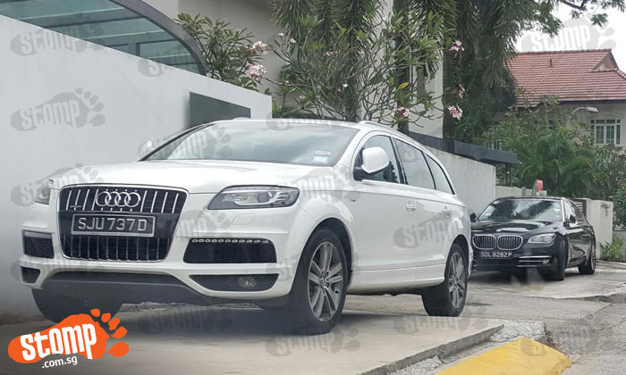 Drivers of fancy Audi and BMW 'show off' their not-so-fancy parking skills along Merryn Road