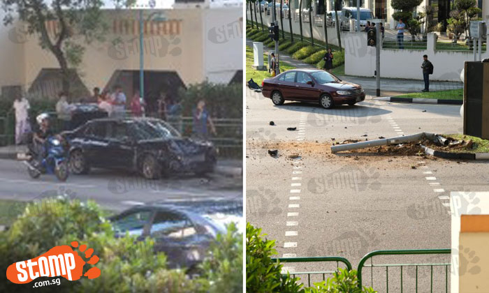 Stomper photographs cat -- but ends up capturing these photos of accident along Sin Ming Road