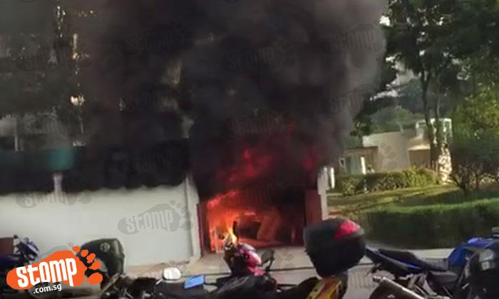 Fire breaks out in rubbish dump near Block 27 Marsiling Lane