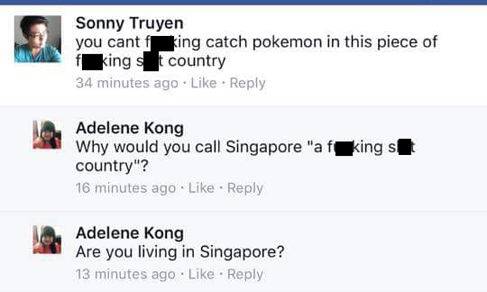 Man calls S'pore a 'f**king s**t country' -- and gets sacked within a single day