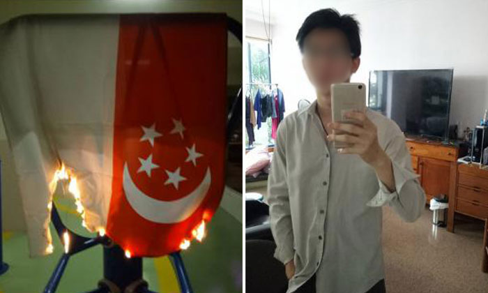 Goondu posts photos of burning Singapore flag on Instagram, challenges authorities to give him the death penalty