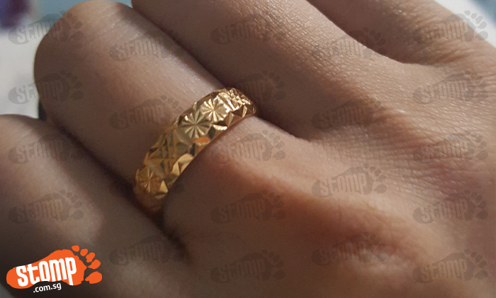 Crushed after losing this gold ring -- which my grandma gave me when I was very young