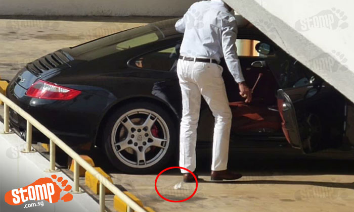 Smartly dressed, drives a Porsche -- but look how he behaves