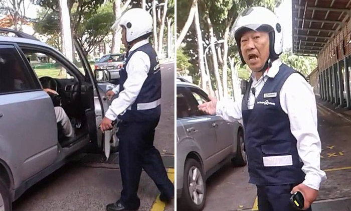 LTA officer opens driver's car door in heated argument: 'He want to hammer me, ask him come lor!'