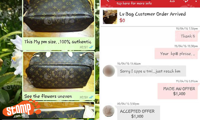 Woman buys '100% authentic' LV bag from Carousell seller -- which turns out to be 100% fake