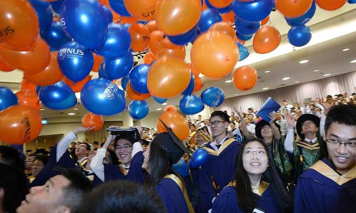 42-year-old father, former EM3 pupil, graduates from NUS