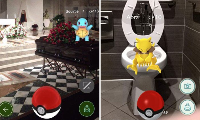 Craziest places where Pokemon Go players have found their virtual monsters