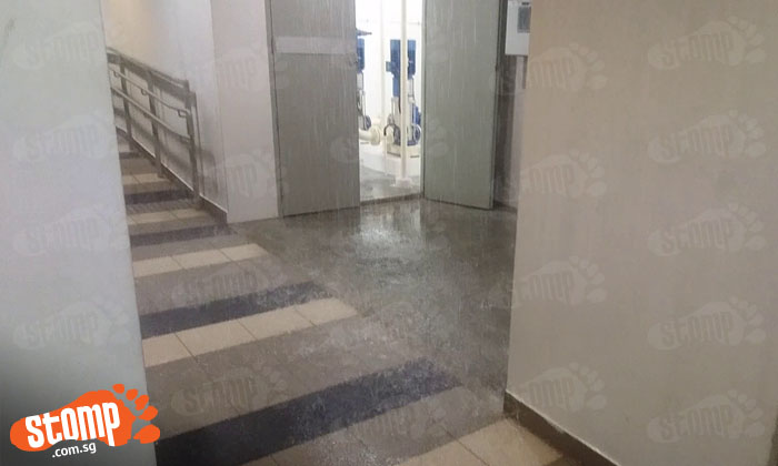 It's raining indoors at Punggol block after water pipe bursts