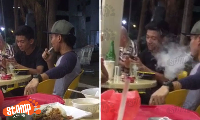 Slow clap: So 'daring' of this guy to vape openly at coffeeshop