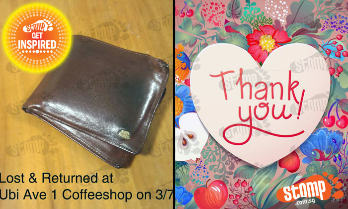 Thank you kind soul who returned man's wallet after he left it behind at Ubi Ave 1 coffeeshop