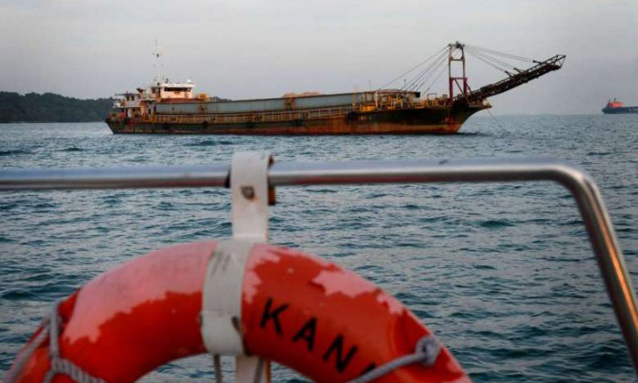 SAF team to dispose of 2m-long bomb found on barge