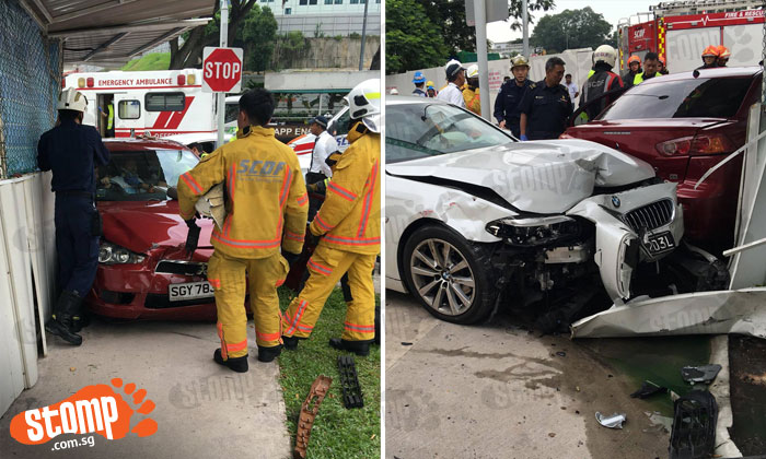 Driver injured after accident involving BMW and Mitsubishi near SGH
