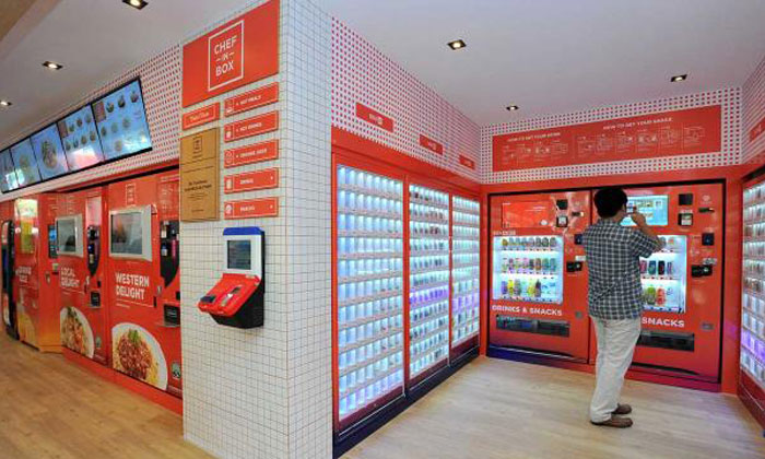 Singapore's first vending machine 'cafe' opens in Sengkang