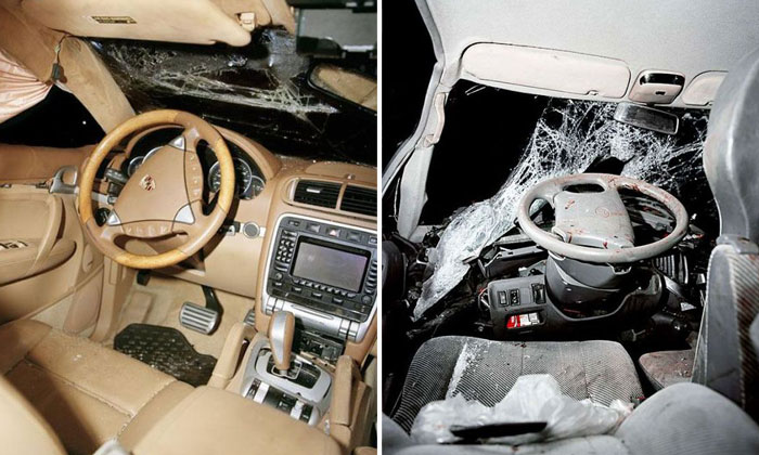 How the interior of cars look like after an accident