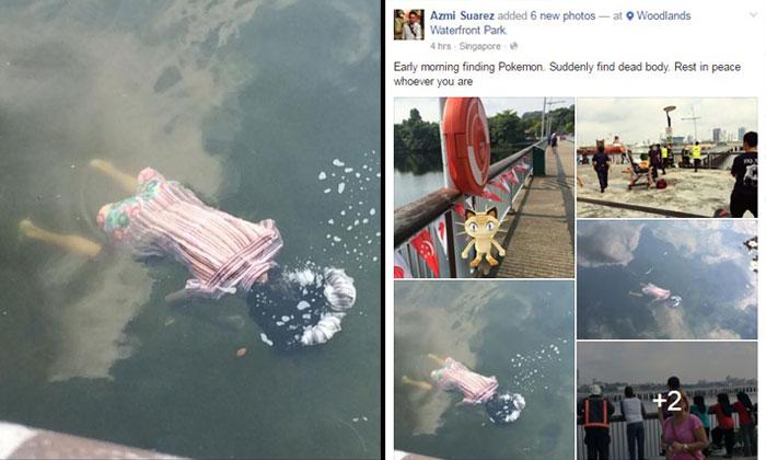 Netizen playing Pokemon Go finds dead body floating on water near Woodlands Waterfront Jetty