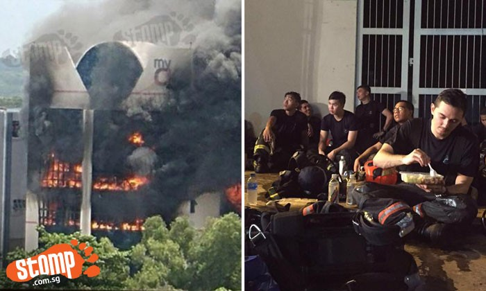 These are the brave faces that battled the raging fire at CK building in Tampines