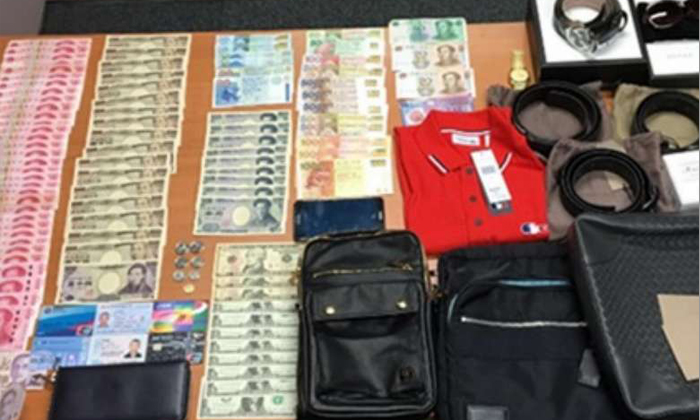 Cash and items worth $29,000 seized after police bust pickpocket syndicate