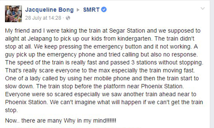 Commuter describes how LRT train went 'really fast and passed 3 stations without stopping'