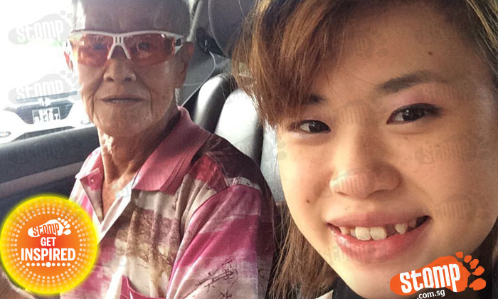Elderly cabby of Comfort taxi SH6639B goes out of way to help Stomper's wheelchair bound mother board and alight taxi