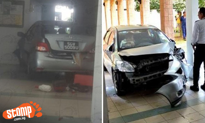 Car which flew out of car park and crashed into lift lobby: Driver stepped on wrong pedal