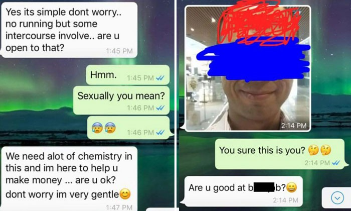 Man catches pervert who tried to trick 'girl' into having sex by posting job ad
