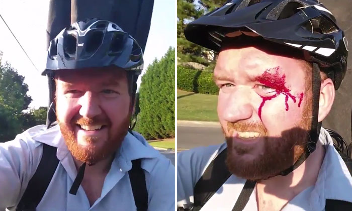 This is why you shouldn't take a selfie while cycling