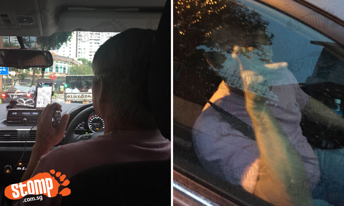 Uber driver uses wrist trainers while driving then threatens passenger's family after he takes photos to complain about his reckless driving