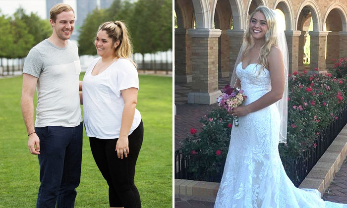Bride loses 50 kg in 15 months after being embarrassed by engagement photos