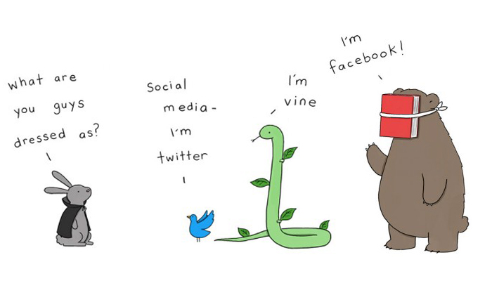 Cute illustrations show what it would be like if animals celebrated Halloween