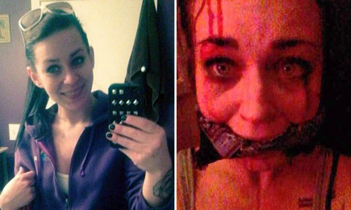 Woman fakes being raped and kidnapped by sending BF pics of her gagged and bleeding