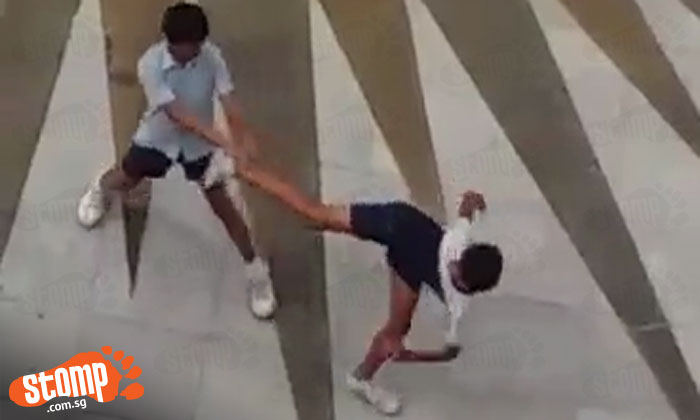 MMA-wannabe boys have the world's least epic shhowdown -- in school uniform