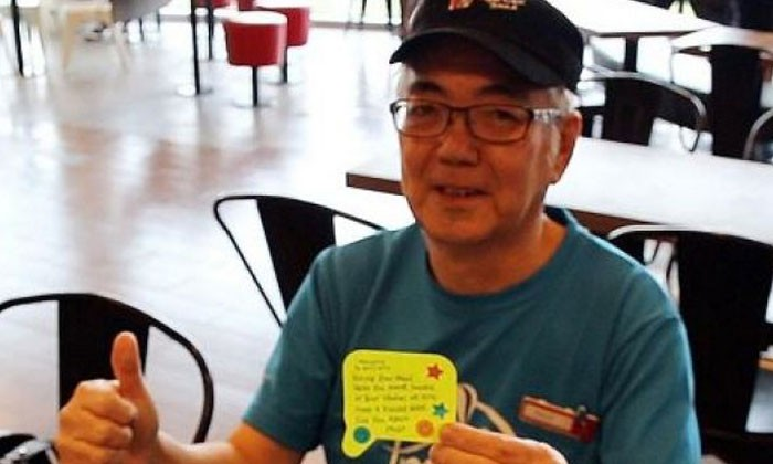 KFC Uncle writes 50 notes a day to encourage students