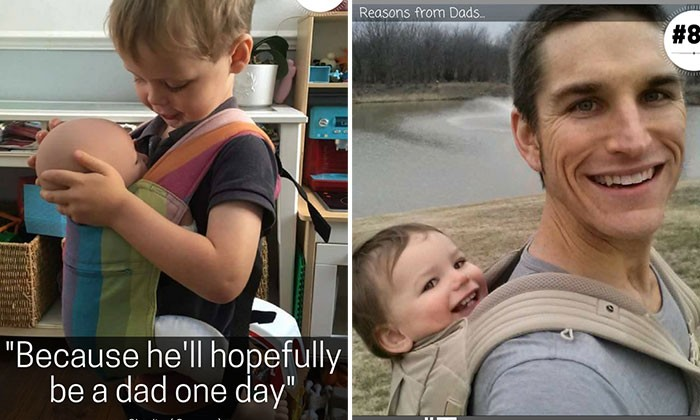 Dads confess as to why they are the ones carrying babies everywhere