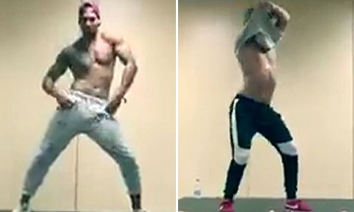 Looks like Magic Mike have competition: 3 men takes their shirts off as they shake it